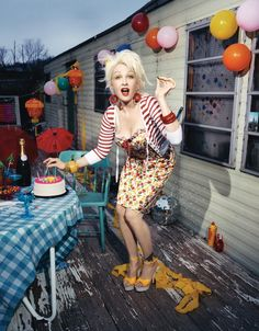 Cyndi Lauper- my husband totally has a thing for her.