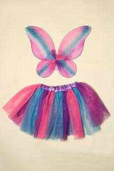Bright Rainbow Skirt & Wing Set - $8.99