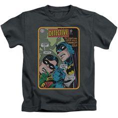 Batman/Detective #380 Short Sleeve Juvenile T-Shirt in Charcoal