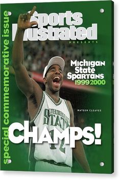 Michigan State Spartans Basketball, Spartan Basketball, Msu Spartans, Michigan State University, College Basketball, Si Cover, Sports Illustrated Covers, Detroit Sports, East Lansing