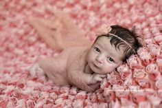 SET Pale Pink Mohair Knit Baby Wrap and Headband