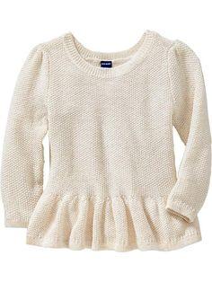 Peplum-Hem Sweaters for Baby Product Image