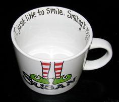 Personalized Hand Painted Christmas Mug on Etsy, $23.00