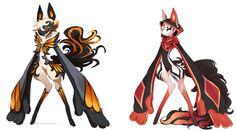 Scarfox shijima bases by on DeviantArt Character Concept, Character Art, Concept Art, Magical Creatures, Fantasy Creatures, Anime Comics, Animal Drawings, Art Drawings, Pokemon Rare