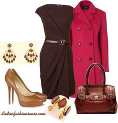 """""""Brown & Pink"""" by ladiesfashionsense on Polyvore"""