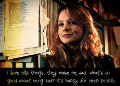 Love this quote. Sally Sparrow.