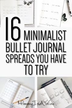 Minimalist Bullet Journal Spreads - Minimalist Bullet Journal Layouts - Monthly and Weekly Spreads - 16 Minimalist Bullet Journal Spreads You Have To Try #bujo #bujolove #bulletjournal #spreads #monthly #weekly #minimalist #bulletjournalspreads #bulletjournallayouts