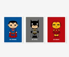 Be Brave Be Strong Be Loyal Cute Superhero Children by loopzart, $35.00