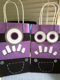 Despicable Me Minion Favor Bags loot bags kids birthday party purple minions by tricia