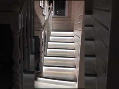 Automatic LED Stair Lighting Led Stair Lights, Stair Lighting, Lighting System, Hue, Stairs, Long Beach, Disability, Design, Decor Ideas