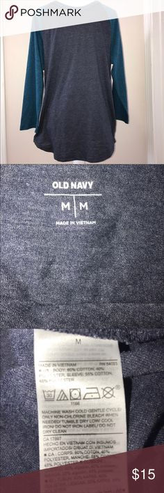 Mens Old Navy Blue Baseball Shirt Size Medium NWOT New With Out Tags #Baseball shirt for men, mens blue shirt, Old Navy Mens shirt, Mens shirt medium, Old Navy blue shirt Old Navy Shirts