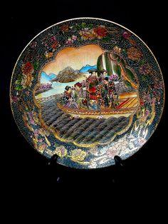 Vintage Made in China Satsuma Plate by JulianosCorner on Etsy