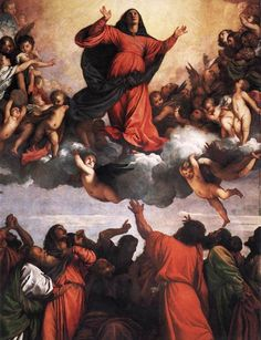 Titian, the renaissance master from Venice. Italian Renaissance Art, Renaissance Kunst, High Renaissance, Renaissance Paintings, Assumption Of Mary, Italian Painters, Caravaggio, Art And Illustration, Illustrations