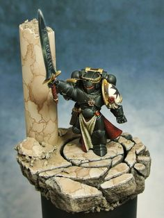 Black Templars The Emperor's Champion. Lovely marble effect.