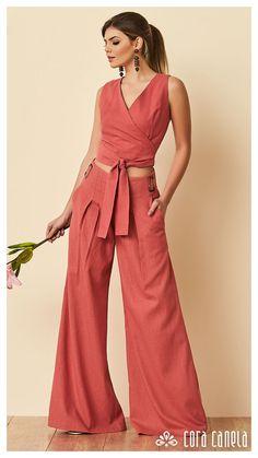 LOOK BOOK 12 – Cora Canela Ethnic Fashion, Look Fashion, Fashion Ideas, Dressing Sense, Wide Leg Jeans, Bell Bottoms, Casual Looks, Women Wear, Cute Outfits