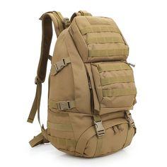 88.88$  Buy now - http://ali709.worldwells.pw/go.php?t=32706668839 - 45L Men MilitaryArmy  Backpack Large Capacity Women Camp Hike Mountaineering Backpack Waterproof Travel Bag 88.88$
