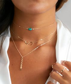 Beautiful & Sizzling, Easy-to-Wear & Effortless. This Turquoise Beaded Necklace is so simple but instantly uplift your look with a pop of color! Also adjustable by 1.5 inch to ensure that perfect choker fit! Just perfect for that evening dress or that summer camisole! FULL DESCRIPTION: - This listing is for the Turquoise Choker shown in photo 1. - Choose how many Turquoise beads you would like in the drop-down menu. - Available in both 14kt Gold-filled, Rose Gold-filled or Sterling Silver…