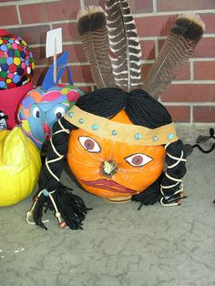Pumpkin Book Characters-Indian