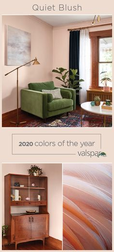 """""""A color with a soft voice, this hushed blush has a slight tint of pink to bring a fresh new take on the off-white shade. One of 12 Valspar 2020 Colors of the Year: Crushed Out at Lowe's My Living Room, Home And Living, Living Spaces, Room Colors, House Colors, Paint Colors For Home, Color Of The Year, My New Room, Room Inspiration"""