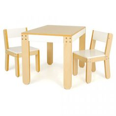 Pkolino Little One's Table and Chairs (White)