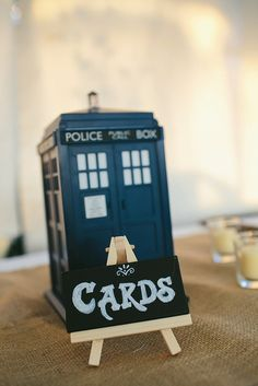 Card box ideas for wedding (and I know some Whovians who would especially love this idea!) Offbeat Bride
