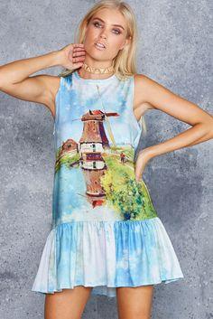 Windmill Friller Dress - 48HR ($100AUD) by BlackMilk Clothing