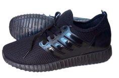 #Мъжки летни маратонки в черен цвят и черна подметка, изработени от мрежест текстил за добра вентилация. Вземи на ниска цена.