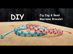 How to Make a Zig Zag and Bead Macrame Bracelet Tutorial