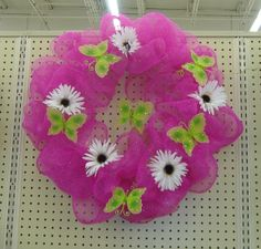 Spring Deco Mesh Wreaths   The Wreath Artist: Mesh Wreath - Spring Wreath with Butterflies and ...