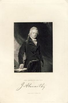 Engraving by J Cochran from painting by Sir Tho Lawrence of John Abernethy Esq. - printed by Fisher, Son & Co 1832