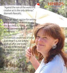 Deb Westbury on poetry and writers block http://writersvictoria.org.au/what-s-on/event/undoing-writers-block-masterclass-for-poets-a-new-path-to-the-waterfall/