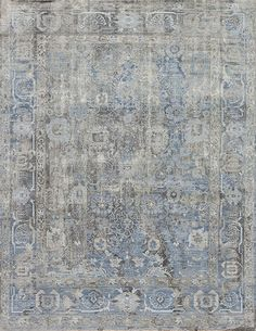 The Intricate And Diverse Designs Found In The Manhattan Silk Collection  Are In A League Of · Transitional RugsGrey RugsVintage RugsBlue ...