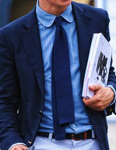 Where can i find denim or chambray shirts liket thist that can be used with a suit?