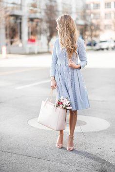 pinstripe dress on jessakae
