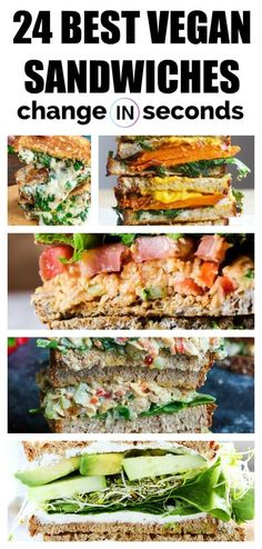 recipes for meat eaters 24 Vegan Sandwiches That Are Incredibly Delicious 24 Best Vegan Sandwiches! Healthy, delicious, and easy to make! Healthy vegan recipes and meat eaters will love these too! Delicious Vegan Recipes, Vegetarian Recipes, Healthy Recipes, Lunch Recipes, Vegan Sandwich Recipes, Going Vegetarian, Vegetarian Breakfast, Vegetarian Dinners, Wrap Recipes
