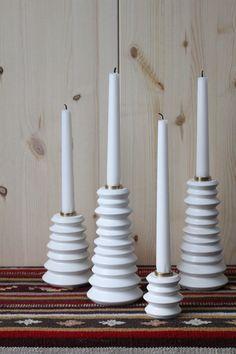 Bambula: DIY: maustemyllystä kynttilänjalka. DIY candle holders from spice mills.