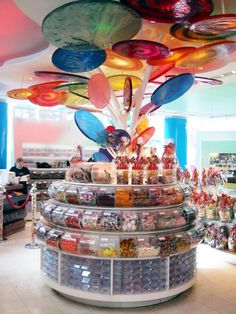 Dylan's Candy Bar. This place makes me so happy. If it's there, I'm going. This brand's candy bars are soooooo good...red velvet cake, banana chocolate chip...I need.