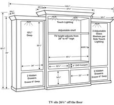 You'll have all of the room you need and more thanks to our Amish Manhattan Mission Entertainment Center - Three Piece Wall Unit with Bookcases. This Amish furn Living Room Built Ins, Living Room Wall Units, Living Room Tv Unit Designs, Home Design Living Room, Wall Unit Designs, Living Rooms, Deco Tv, Tv Unit Furniture, Bedroom Furniture
