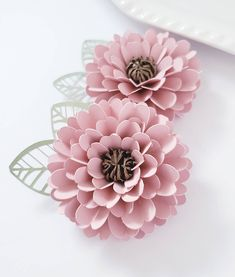 Easy Paper Flower Tutorial - Paper Flower Templates - DIY Flowers - 3D Flowers - SVG/PDF - Small Flowers - Party Decor - Zinnia Flower