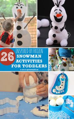 Don't miss these snowman activities for toddlers inspired by Frozen and Olaf!