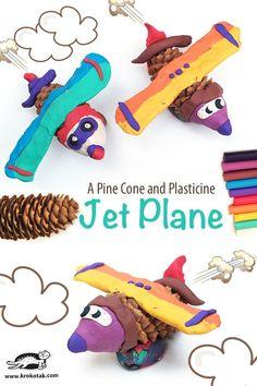 A Pine Cone and Plasticine Jet Plane
