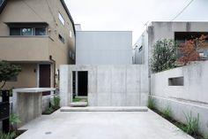 Einfamilienhaus in Tokio / Wand im Vorgarten - Architektur und Architekten - News / Meldungen / Nachrichten - BauNetz.de