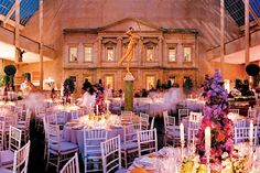 "In 2004, the gala paid homage to the ""Dangerous Liaisons: Fashion and Furniture in the Eighteenth Century"" exhibition with Victorian-esque topiary trees and conical-shaped centerpieces featuring colorful blooms like lilacs.  Photo: Michael Lisnet"