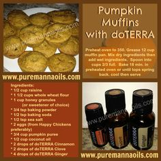 Pumpkin Muffins using doTERRA Essential Oils!