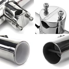 316 Stainless Steel Tube Fishing Rod Holder Boat Tackle Clamp On Rail Mount