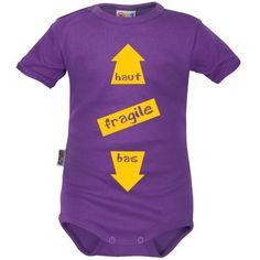 Body bébé humour : FRAGILE (9 coloris)