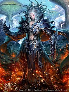 Artist lee jong chul aka mandrill title unknown card pyromancer
