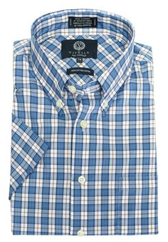 Just added to our collection at The Abbey Button-Down Colla... Check it out here http://theabbeycollection.ca/products/button-down-collar-short-sleeve-plaid-sport-shirt-by-viyella-2?utm_campaign=social_autopilot&utm_source=pin&utm_medium=pin