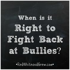 PARENTS: When it comes to bullying, where do you teach your child the line is drawn on self-defense? Come tell me your POV!