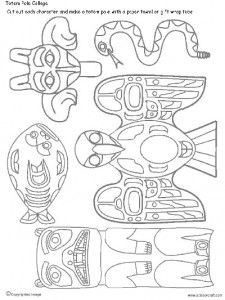 totem pole printables free online printable coloring pages, sheets for kids. Get the latest free totem pole printables images, favorite coloring pages to print online by ONLY COLORING PAGES. Totem Pole Art, Totem Pole Drawing, Cultures Du Monde, Arte Tribal, 3rd Grade Art, Art Worksheets, Native American Crafts, Thinking Day, We Are The World